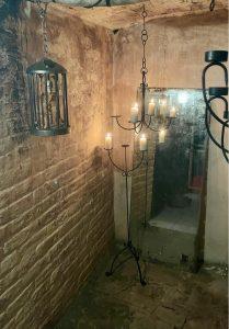 Chandelier in a gothic dungeon
